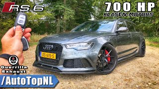700HP AUDI RS6 Klasen REVIEW POV on AUTOBAHN (No Speed Limit) by AutoTopNL
