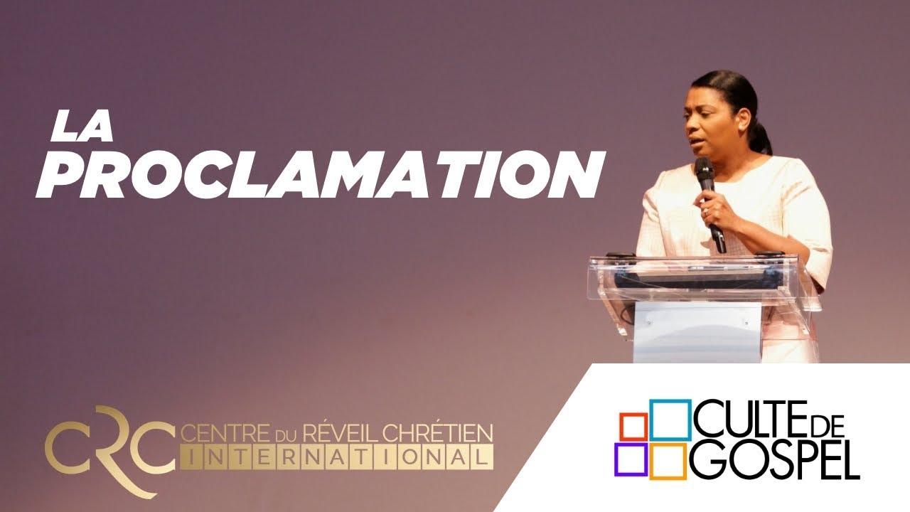 """La proclamation"" une exhortation du Pst Jocelyne Goma"