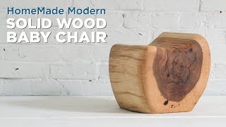 Diy Kids Chair Carved From A Single Log
