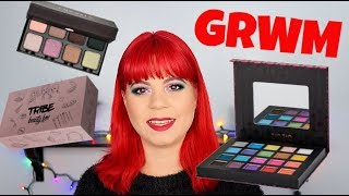 GRWM | Tribe Beauty unboxing | Trying new makeup | 31 days of glitter