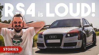 Insane SUPERCHARGED Audi RS4 B7. Crazy Milltek exhaust sounds!