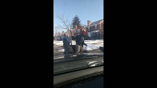 Vicious dog attack mail carrier in Detroit Michigan