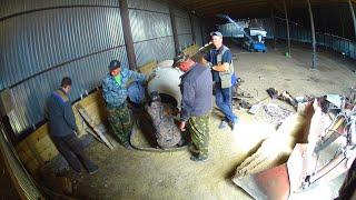 Залив стены в ангаре. Попытка пуска ЗИЛ-130 с переборки двигателя. (84,85-День 3-Сезона)