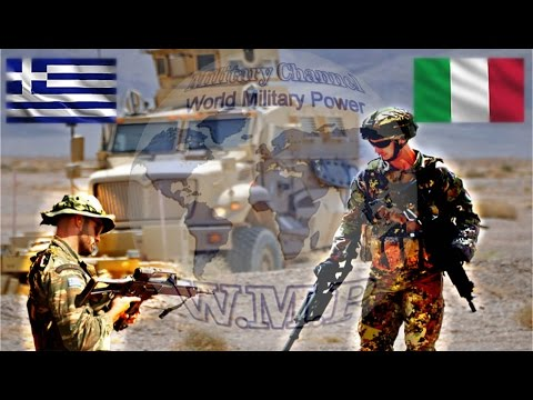 Italian Army VS Hellenic Army Military Power Comparison 2016 - 2017