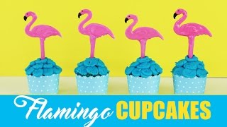 FLAMINGO Cupcakes | Simple Summer Cupcake Ideas | Elise Strachan