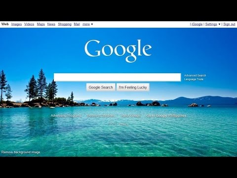How to change Google background and logo - YouTube