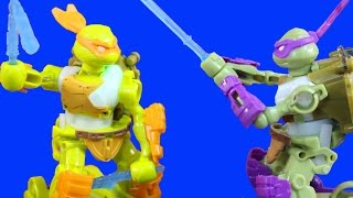 Teenage Mutant Ninja Turtles TMNT Battroborg Electronic Battle Game With Donnie And Mikey