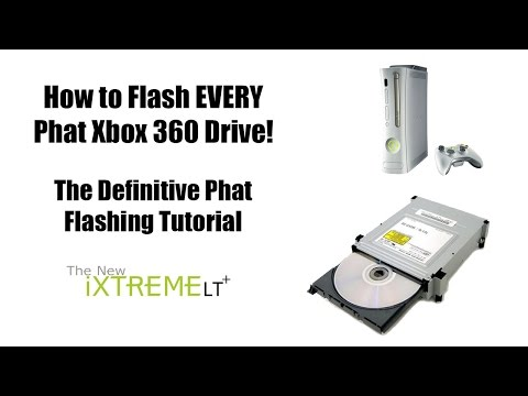 How to Flash Every Phat Xbox 360 Drive! - YouTube