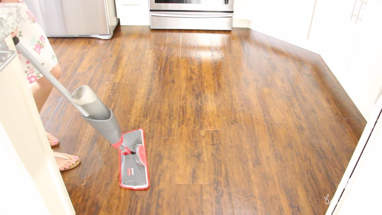 How To Clean Laminate Wood Floors & Care Tips - YouTube