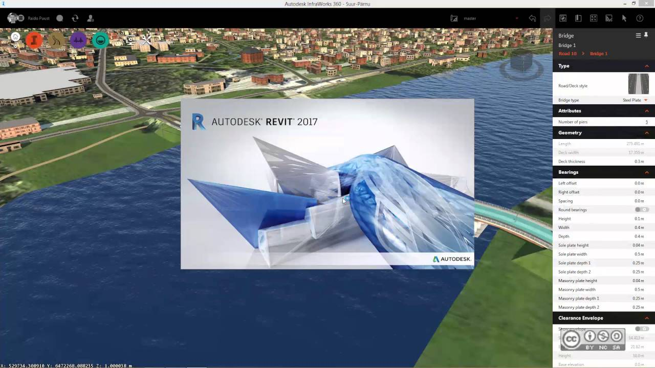 Autodesk InfraWorks 360 - Export bridge to Autodesk Revit