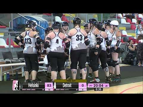 2018 WFTDA Playoffs - A Coruña  Game 2: Helsinki Roller Derby v Detroit Roller Derby
