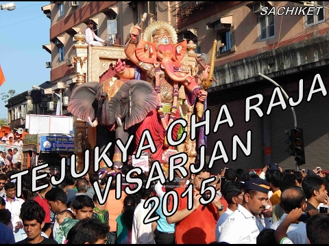 Tejukaya ganesh visarjan 2015 at girgaon
