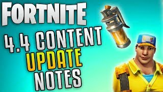 "Fortnite Update 4.4 Content Update ""Fortnite New Update Patch Notes"" Fortnite Stink Bomb Update"