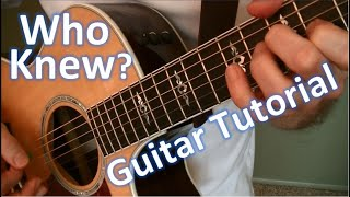 Download Who Knew -- P!nk -- Guitar Tutorial Mp3 and Videos