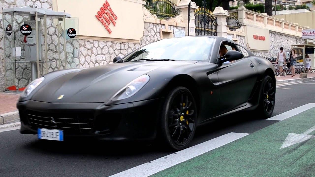 matte black ferrari 599 gtb crazy accelerating youtube - Matte Black Ferrari 599