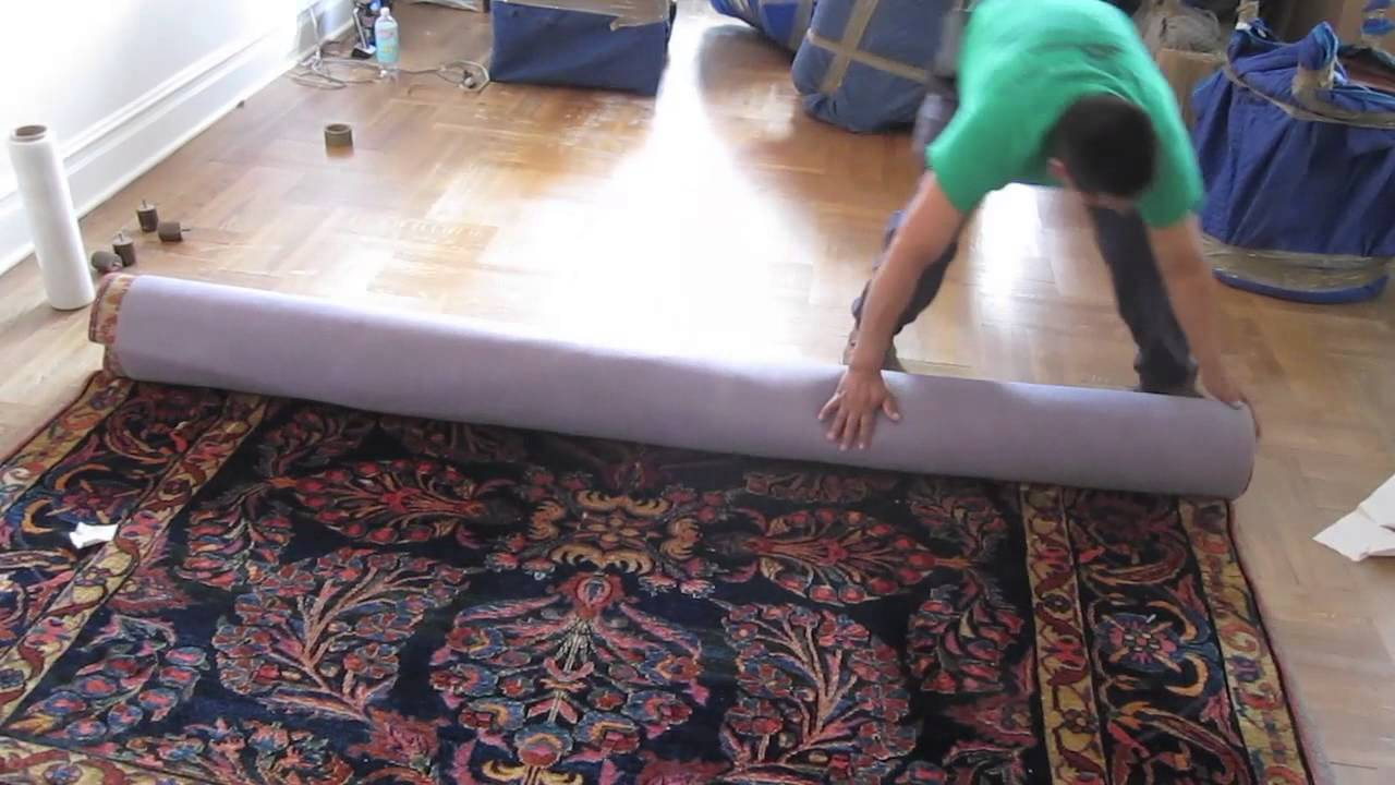 How To Pack And Wrap A Rug For Move Youtube
