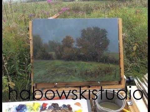 "Plein air painting demo - ""Morning Fog"""