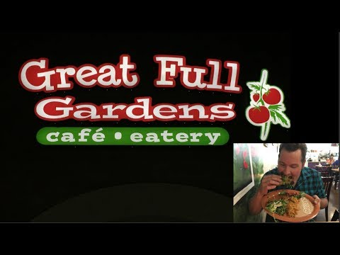 What do vegans eat? Food Ideas Episode# 12 Great Full Gardens cafe eatery in Reno Nevada