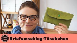 Briefumschlagtasche / Nähen mit Resten / kostenloses Schnittmuster / Envelope Wallet