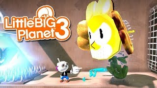 Скачать LittleBIGPlanet 3 Cuphead All Bosses Player 1 2 Playstation 4