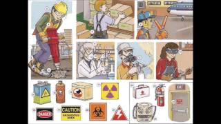 Job safety - health and safety signs vocabulary