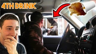 DROPPING DRINKS AT THE DRIVE THRU!