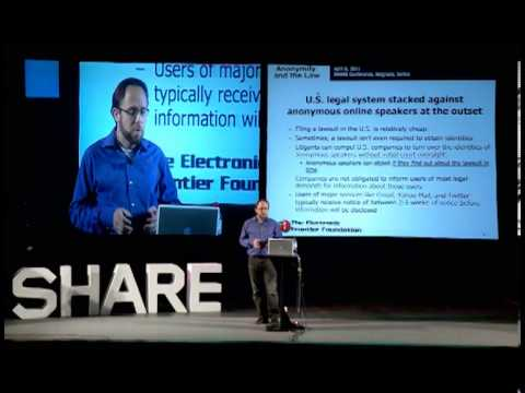 SHARE Belgrade 2011 - Matt Zimerman: Online anonymity, free expression, and the law