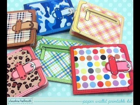 make a paper wallet gift card holder, cash and money holder
