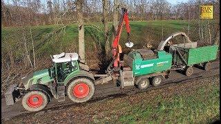 Holz häckseln 2019 Fendt 939 Mobilhacker Komptech Holzhäcksler im Einsatz Power chop wood Tree care
