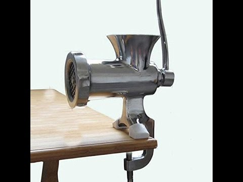 Review:  Kitchen Home Cast Iron Manual Meat Grinder Table Hand Mincer