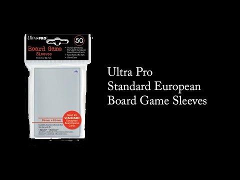 New! Fantasy Flight Standard European Board Game Sleeves 59mm x 92mm 50