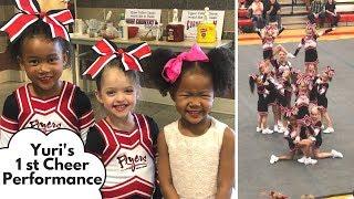 Yuri's First Cheer Performance! | Cheerleading, Tumbling, Gymnastics Update | Vlog ep. 180