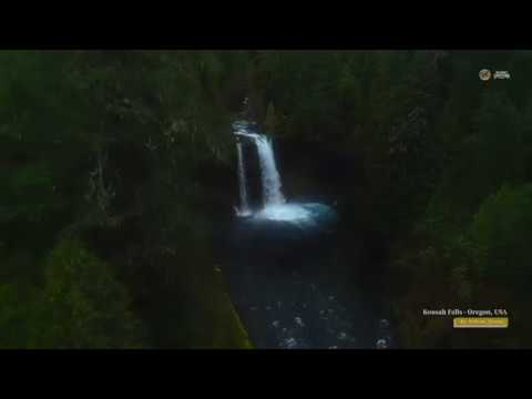 PUTV VISUALS // 4K Aerial Koosah Falls (Oregon)