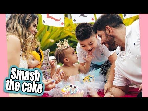 SMASH THE CAKE - PREPARATIVOS 1 ANO DA ELIZA ep02   Kathy Castricini