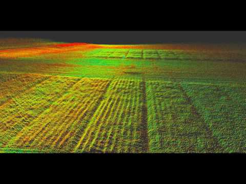 First attempt at crop mapping with Velodyne VLP16 and Matrice 100