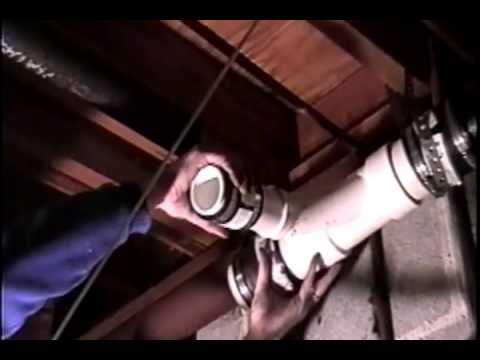 Replacing Cast Iron drain pipe with PVC -ASMR -Plumbing repair