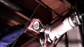 Replacing Cast Iron drain pipe with PVC -ASMR -Plumbing repair