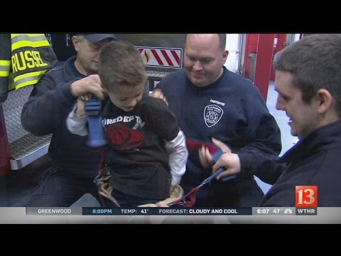 Ind. boy teaches firefighters sign language