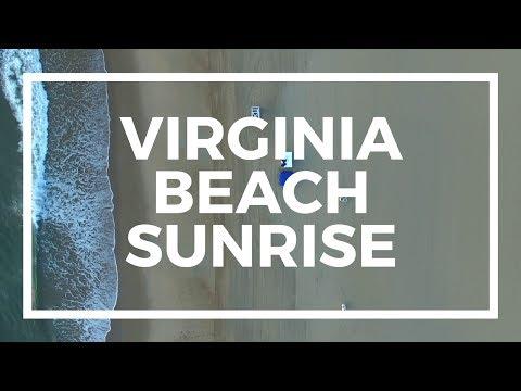 Virginia Beach Sunrise by Drone