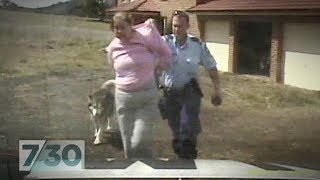 Australian policeman draws gun on pensioner and pepper-sprays her dog | 7.30