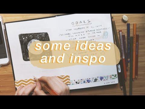 Ways to break in your sketchbook
