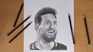 How to draw Lionel Messi with a beard, Messi drawing