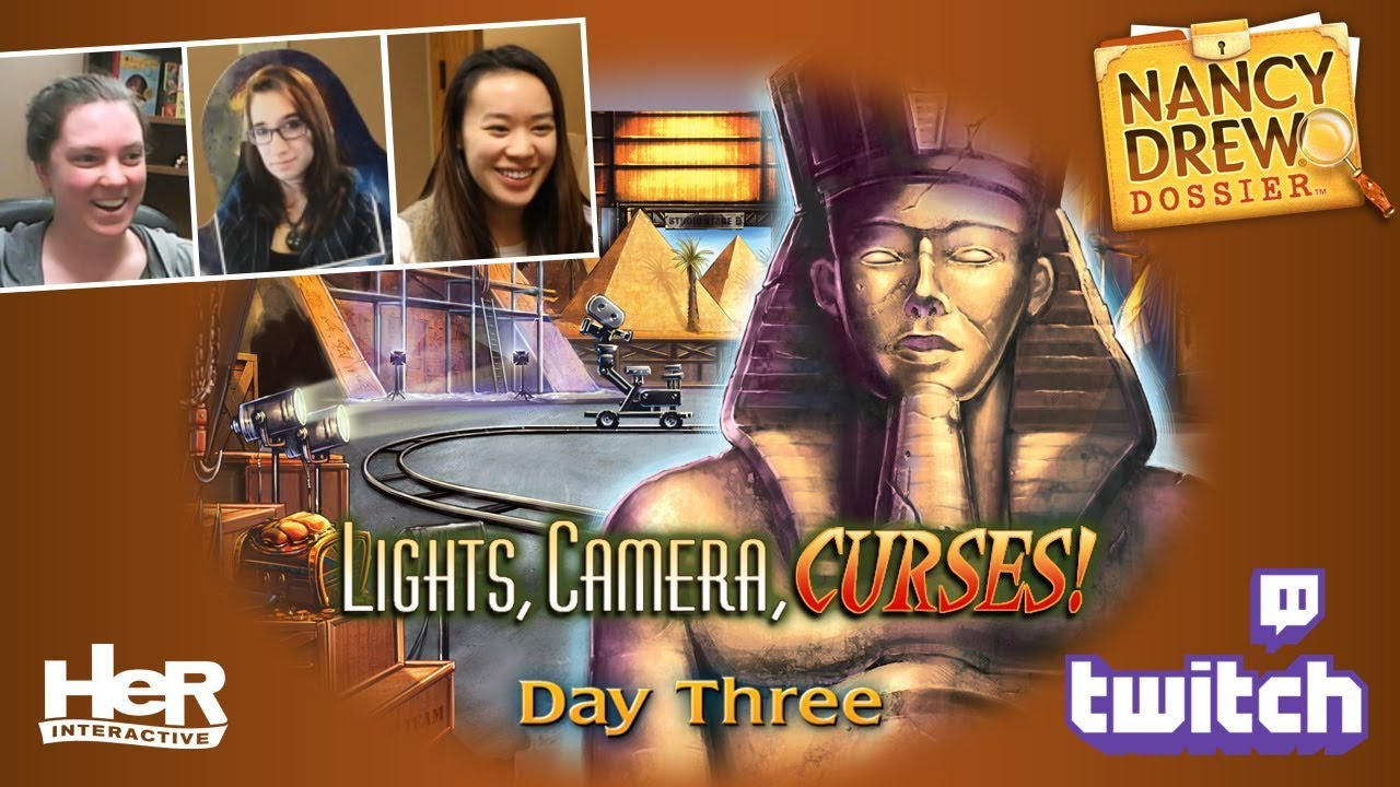 Nancy Drew Dossier: Lights! Camera! Curses! [Day Three: Twitch] | HeR  Interactive