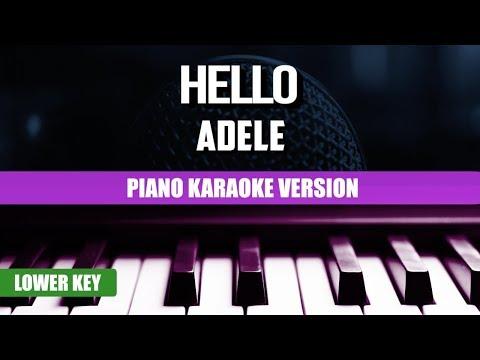 Hello (Piano Version) - Adele | Karaoke Lower Key