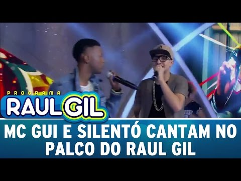 Programa Raul Gil (05/11/15) - Mc Gui e Silentó cantam no palco do Programa Raul Gil