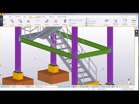Staircase Tower Modelling in Tekla Structures 2016