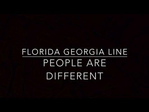 People Are Different (Piano Karaoke Instrumental) Florida Georgia Line
