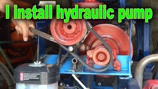 Install the pump hydraulics in garden tractor