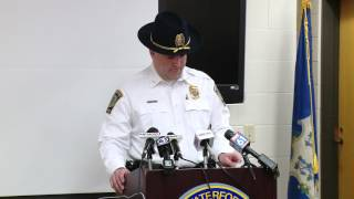 Waterford police press conference on Sen. Maynard crash investigation