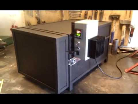 Heat treating oven - YouTube